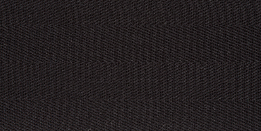 Black Cotton Herringbone