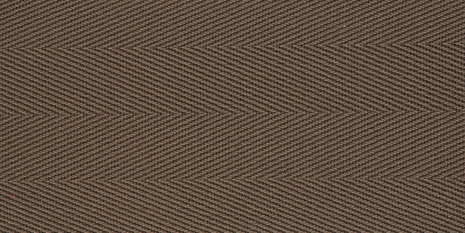 Rhino Brown Cotton Herringbone