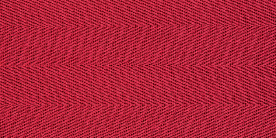 Carmine Cotton Herringbone