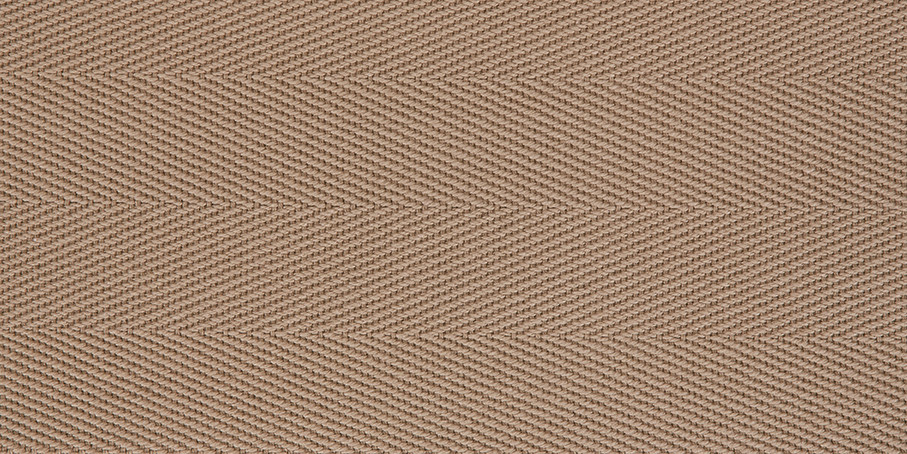 Fawn Cotton Herringbone