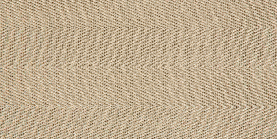 Ecru Cotton Herringbone
