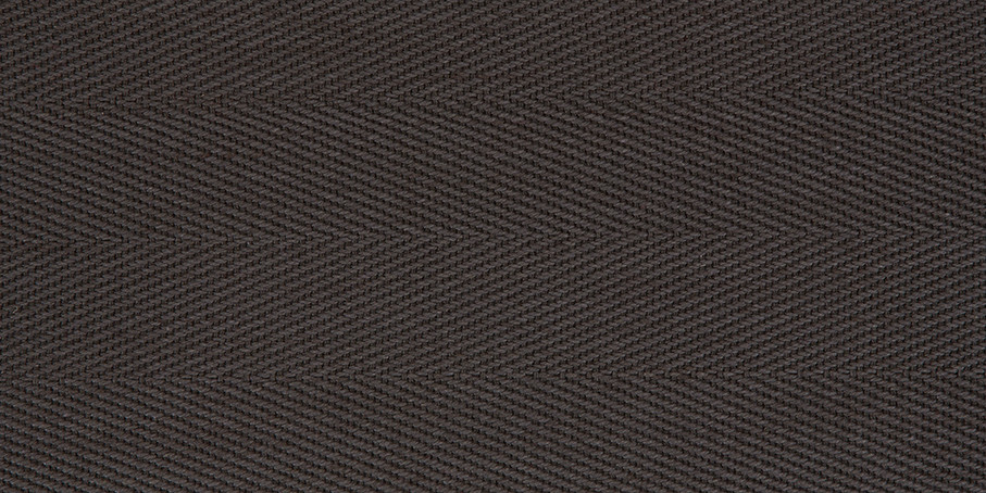 Smokey Grey Cotton Herringbone
